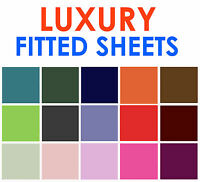LUXURY POLYCOTTON FITTED SHEET SINGLE DOUBLE 4FT KING SUPER KING PILLOWCASE