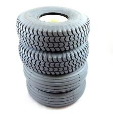 1 Set of 4 Solid Tyres (2 Rib 2 Block) 260x85 3.00-4 Grey Mobility Scooter 300x4