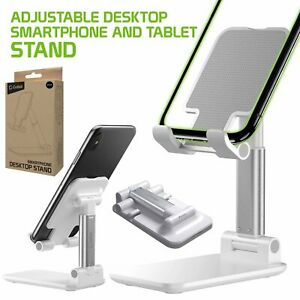 Adjustable Desktop Smartphone and Tablet Holder Stand Foldable Heavy Duty Mount
