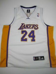 Mens size 50 Kobe Bryant Los Angeles Lakers Adidas sewn white jersey 24