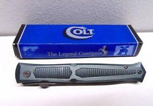 Colt CT341 Titanium Stiletto Dagger Gray Black Folding Knife W/ Original Box