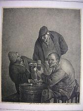 OSTADE, ZECHENDE BAUERN, CAROUSING PEASANTS, WERNER, BERLINER GALERIEWERK, ~1825