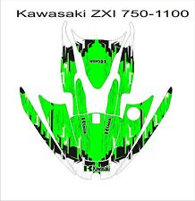 KAWASAKI ZXi 750 1100 jetski Jet Ski Graphic Kit Wrap pwc decals stickers 4