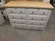 HAMPSHIRE PAINTED 4 OVER 6 DRAWER CHEST /SOLID PINE - SOLID OAK - PAVILION GRAY