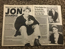 Jonathan Jon Brandis Teen Magazine Clipping Article #6 2pg