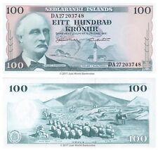 Islande 100 Kronur 1961 P-44 billets UNC