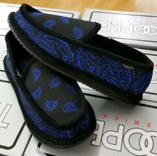 BANDANA HOUSE SHOES MEN'S PAISLEY  BLACK / ROYAL BKRY