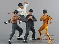 4pcs/set Cool Bruce Lee Kung Fu PVC Collection Model Action Figures New in Box