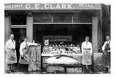 pt1392 - G E Clark Fishmongers , Goole , Yorkshire - photograph 6x4