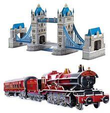 3d PUZZLE TOWER BRIDGE / Tren Locomotora