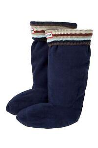 Hunter Kids Striped Welly Socks Multi Blues XXS New