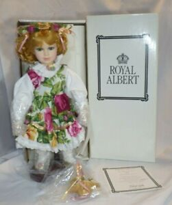 Royal Albert Old Country Rose Porcelain Doll Limited Edition with Box