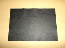 Black Cowhide Leather Offcut Scrap Craft Panel Piece A4 Size - 29CM X 21CM
