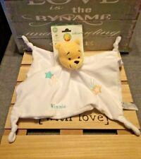 Doudou Winnie plat blanc brodé étoiles filantes orchestra Nicotoy Disney Neuf