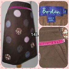 Boden applique skirt Brown 14L Fun Circles Design Vgc