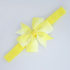 Baby Girl Elastic Headbands Infant Knotted Hairbands Colorful Bows,Yellow