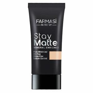 Farmasi Make Up Stay Matte Mineral Foundation 1 fl oz - 30 ml / Various Shades
