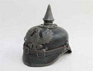 Antique Replica First World War 1914 German Spiked Pickelhaube Trench Helmet