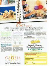 Publicité Advertising 057  1994  Cofidis  banque chien briard