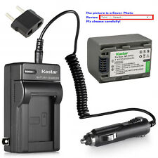 Kastar Battery Travel Charger for Sony NP-FP70 NP-FP71 & Sony DCR-HC96 DCRHC96