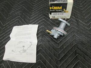 KEM Fuel Pump Rebuildable 42413 D4ZZ-9350B Ford Mercury Pinto Mustang Bobcat V6