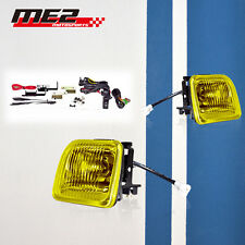1996-1998 Honda Civic EK JDM Yellow Fog Lights Front Bumper Lamps FULL KIT SET