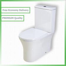Toilet WC Bathroom Close Coupled White Ceramic Soft Closing Seat Dual Flush TD15