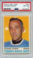 1970 O-Pee-Chee Hockey Jacques Plante #222 PSA 8 NM-MT BEAUTIFUL!!