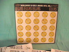 Elvis Presley, Worldwide 50 Gold Award Hits, Vol. 1, RCA LPM 6401-4, 1975, BOX