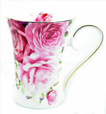 Fine Bone China English Cabbage Rose Coffee Tea Cup Mug