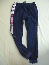 Pantalon Adidas One World 80'S Velour Marine et blanc Survetement vintage - 186