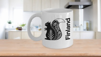 Finland Mug White Coffee Cup Gift for Traveler  Helsinki Arctic Lapland Northern