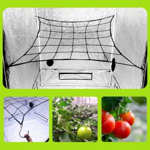 Scrog Net for 3'x3' Grow Tents - Grow Tent Netting Trellis Net 3x3 - Elastic Net