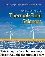 Fundamentals of Thermal-Fluid Sciences 5th NEW Int'l Ed.US Delivery 3-4 bus day