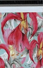 100 10x13 Red Tropical Flowers Custom Designer Poly Mailers Envelopes Bags