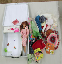 Collection of 1 Barbie Doll 1966 & 1976 Case plus lots of Clothes & Accessories