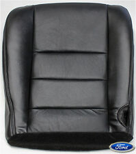 02-07 Ford F250 F350 XLT Lariat Sport Amarillo Leather Bottom Seat Cover Black