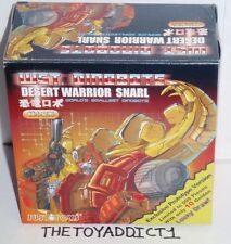 Transformers Justitoys WST Dinobot G1 Desert Warrior Red Snarl Prototype Sealed