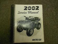 2002 ARCTIC CAT ATV Service Repair Shop Workshop Manual FACTORY BOOK 2002 X