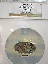 2012 FIJI .925 Silver Prophecy of Maya Calendar Apocalypse Coin NGC PF69 mayan