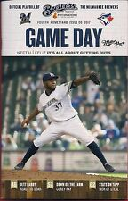 NEFTALI FELIZ ON COVER MILWAUKEE BREWERS 2017 OFFICIAL GAMEDAY PROGRAM ISSUE #8