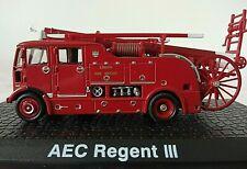 More details for aec regent iii london fire brigade engine diecast model case - 15cm ht x 7cm