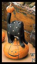 "CAT on Pumpkin -""Guardian of the Pumpkin Patch"" - Williraye -6005 - New in Box"