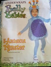 UNDERWRAPS BELLY BABIES 3 ANTENNA MONSTER HALLOWEEN COSTUME X LARGE (3T-4T) NEW!