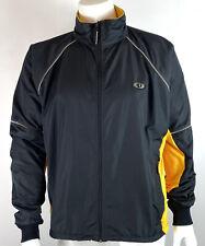 Pearl Izumi Mens Cycling Jacket Full Zip Fleece Lined Black Yellow 4665 size XL