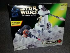 Star Wars Power Of The Force HOTH BATTLE Gun Turret & Shooting Laser NEW
