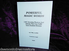POWERFUL MAGIC WORDS Finbarr Occult Grimoire Magick White Magick Witchcraft