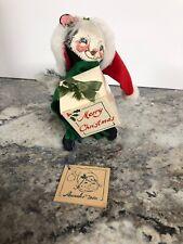 "Annalee Dolls 7"" Santa Skunk 1992 Christmas 7422 Gold Tag Vintage Santa Hat"