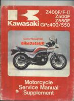 Kawasaki GPZ550 Z550F Z400F (83-85) Supplementary Manual ZX ZR GPZ 550 400 CF43