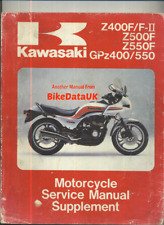 Kawasaki GPZ550 Z550F Z400F (83-85) Supplementary Manual ZX ZR GPZ 550 400 CF43